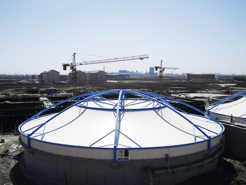 膜结构污水处理棚